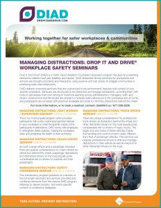 DIAD Managing Distractions Seminars Flyer